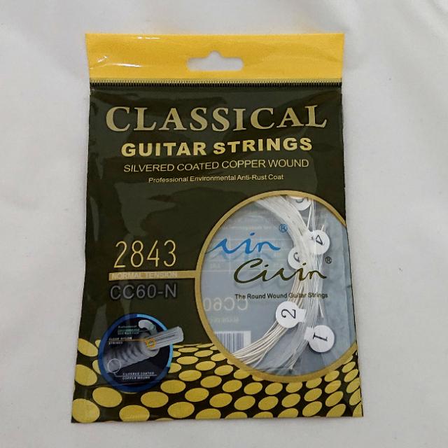 【送料無料メール便】一番安いクラシックギター弦 Civin ノーマルテンション ガット弦 ナイロン弦 CC60-N