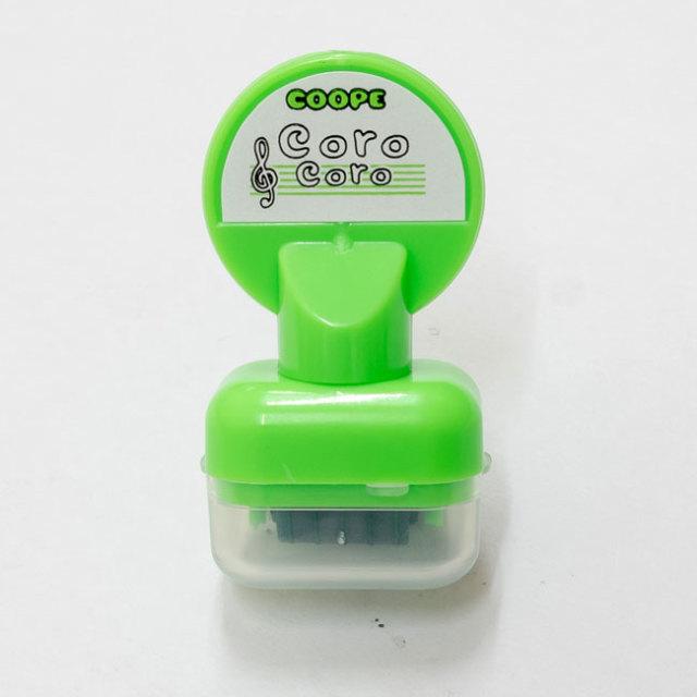 【送料無料メール便】五線を一瞬でひけるスタンプ コロコロ五線スタンプ みどり インクカラー:緑