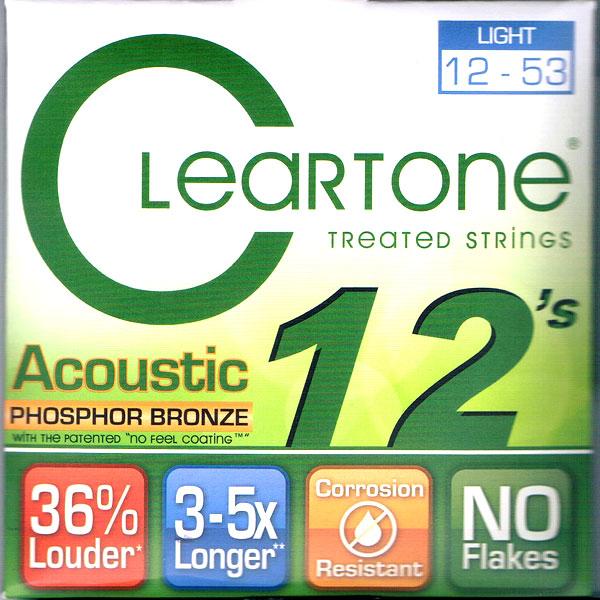 【送料無料メール便】クリアトーン 7412 アコースティックギター弦 LIGHT