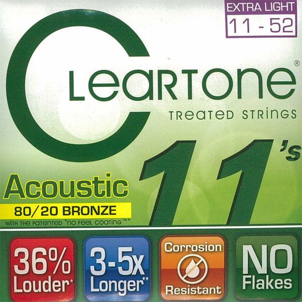 【送料無料メール便】クリアトーン 7611 アコースティックギター弦セット