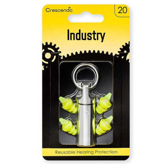 【送料無料メール便】CRESCENDO 工事 工場 作業用 イヤープロテクター 耳栓 Industry 20