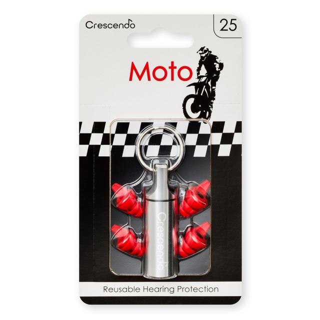 【送料無料メール便】Crescendo Moto 25 レーサー向けのイヤープラグ(耳栓) クレッシェンド