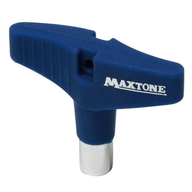 【送料無料メール便】ドラムチューニングキー MAXTONE シリコングリップ ブルー DK-23BL