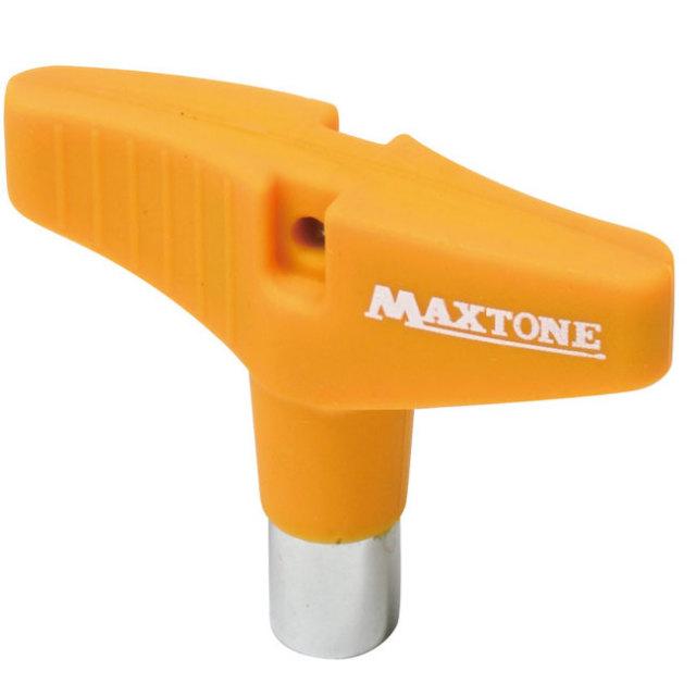 【送料無料メール便】ドラムチューニングキー MAXTONE シリコングリップ オレンジ DK-23RO