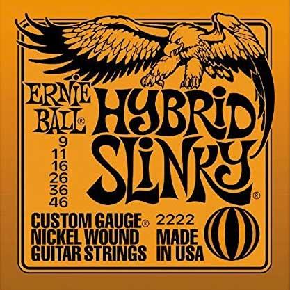 【送料無料メール便】ERNIE BALL アーニーボールエレキギター弦 2222 Hybrid Slinky ハイブリッドスリンキー 1SET