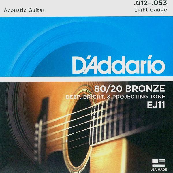 [送料無料] DAddario(ダダリオ)80/20 Bronze アコギ弦 EJ11