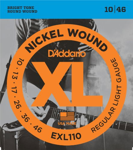 [送料無料] 定番 DAddario(ダダリオ) エレキギター弦 レギュラーライトゲージ EXL110