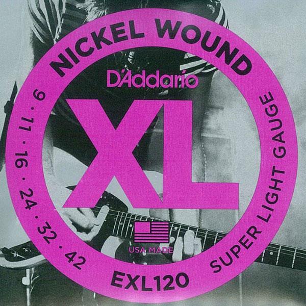 [送料無料]DAddario(ダダリオ) エレキギター弦 スーパーライトゲージ EXL120