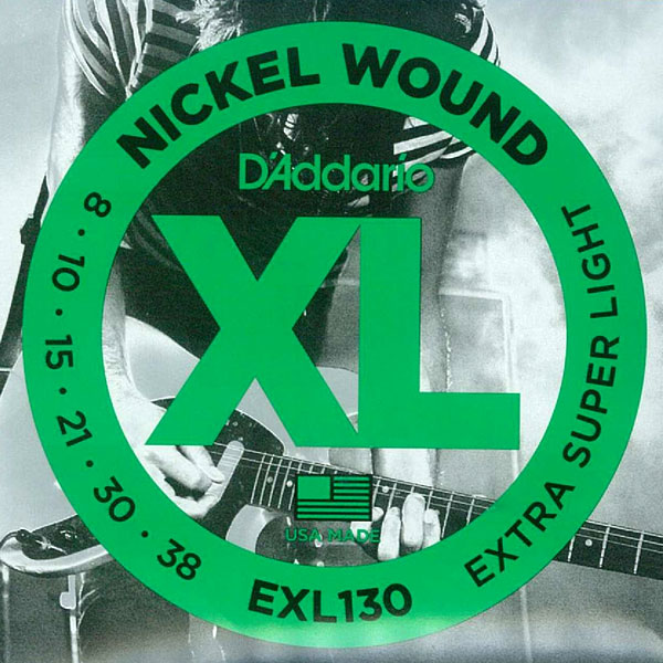 [送料無料]DAddario(ダダリオ) エレキギター弦 エクストラスーパーライトゲージ EXL130
