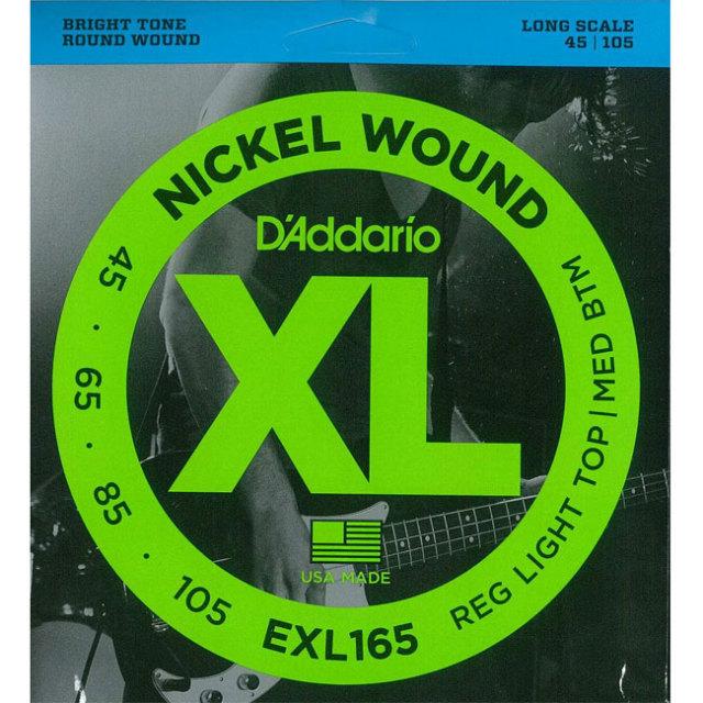 [送料無料]DAddario(ダダリオ) ベース弦 レギュラーライトゲージ EXL165