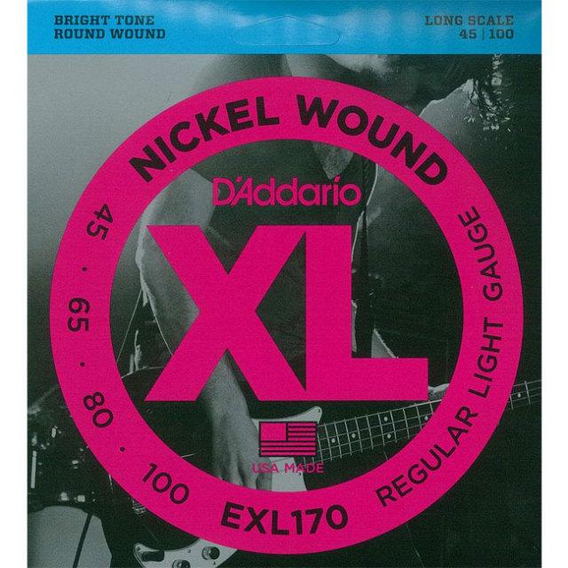 [送料無料]DAddario(ダダリオ) ベース弦 レギュラーライトゲージ EXL170