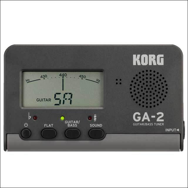 【送料無料メール便】KORG GA-2 ギター・ベースチューナー 定番のギターチューナー