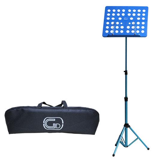 【送料無料】軽量折りたたみ式オーケストラ譜面台 ブルー Foldable Small Music Stand GL-05 (持ち運びケース付)