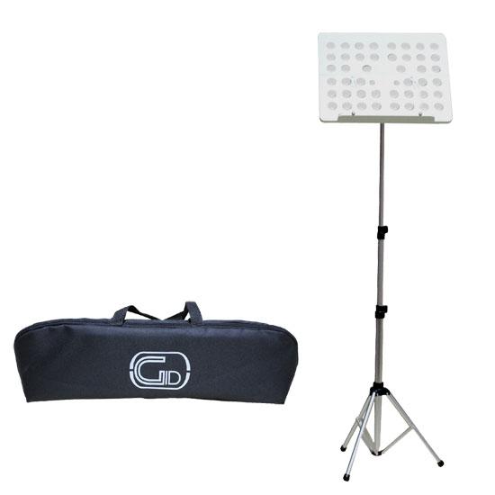 【送料無料】軽量折りたたみ式オーケストラ譜面台 シルバー GID Foldable Small Music Stand GL-05 (持ち運びケース付)