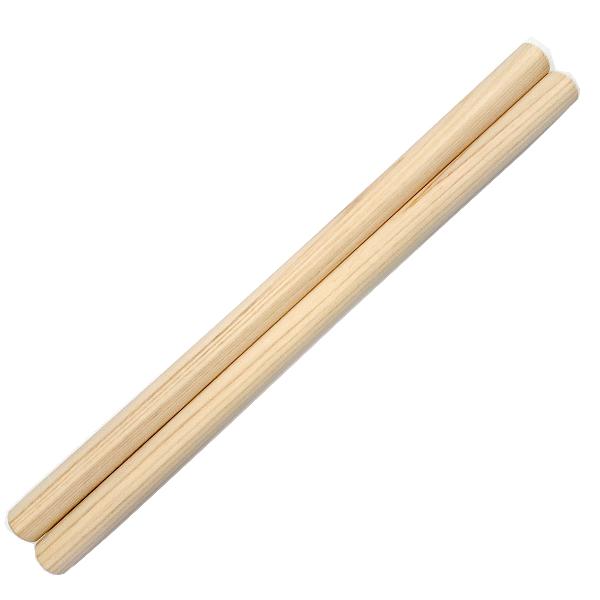 和太鼓バチ 材質:ヒノキ 太さ24mm X 長さ420mm 国産手工バチ 西日本楽器