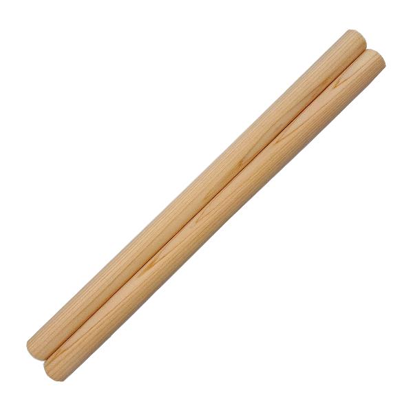和太鼓バチ 材質:ヒノキ 太さ27mm X 長さ450mm 国産手工バチ 西日本楽器