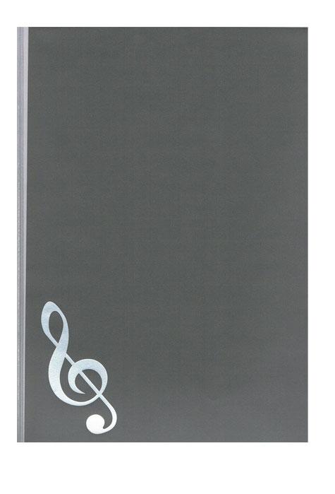【送料無料・メール便】5シートクリアファイル 楽譜ファイル グランドピアノで5面の楽譜を簡単にセット