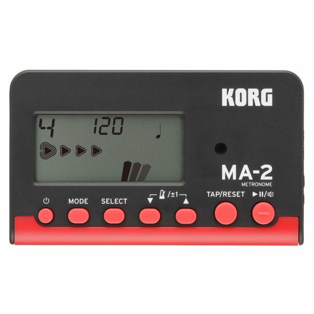 【送料無料メール便】KORG 電子メトロノーム MA-2 赤黒 ベストセラーのカードタイプメトロノーム MA-2-BKRD