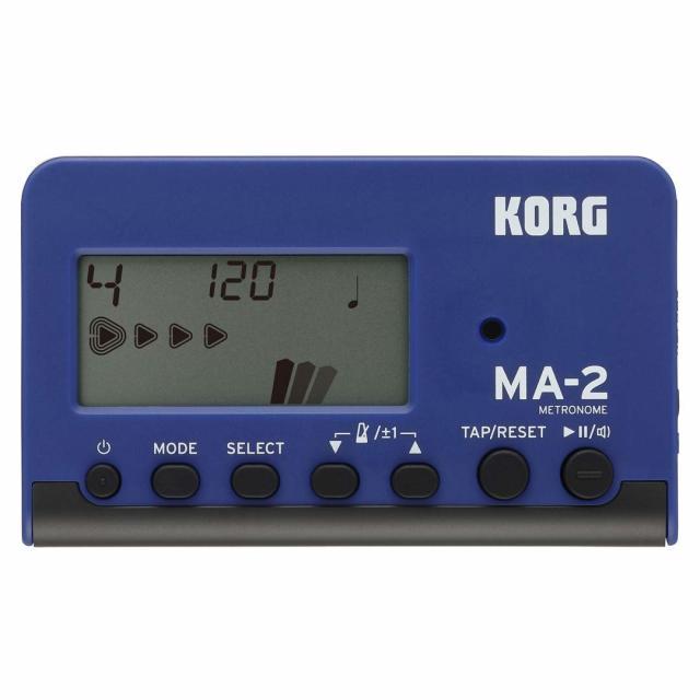 【送料無料メール便】KORG 電子メトロノーム MA-2 青黒 ベストセラーのカードタイプメトロノーム MA-2-BLBK