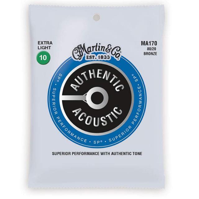 【送料無料メール便】Martin マーチンアコースティックギター弦セット ギター弦 Extra Light(010~047)MA170