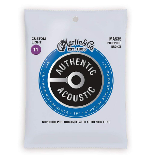 【送料無料メール便】Martin マーチン アコギ弦セット フォスファーブロンズ弦 custom Light(011~052)MA535