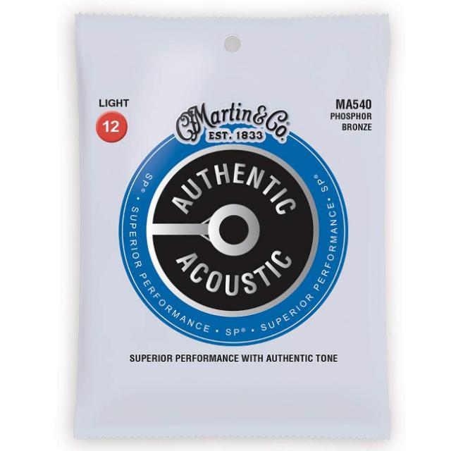 【送料無料メール便】Martin マーチン アコギ弦セット ギター弦 フォスファーブロンズ弦 Light(012~054)MA540