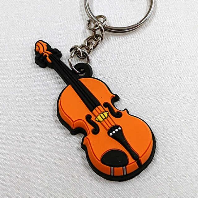 【送料無料メール便】バイオリン ラバーキーホルダー メーカー:MUSICIAN DESIGNER