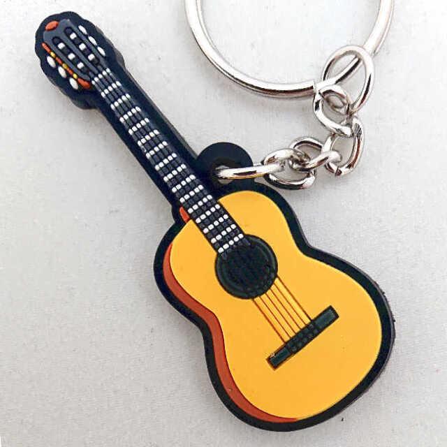 【送料無料メール便】クラシックギター ラバーキーホルダー メーカー:MUSICIAN DESIGNER