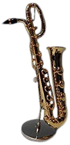 ミニチュア楽器 フィギュア バリトンサックス カラーゴールド 金属製 1/6 15.5cm サンライズサウンドハウス 飾り物で音は出ません