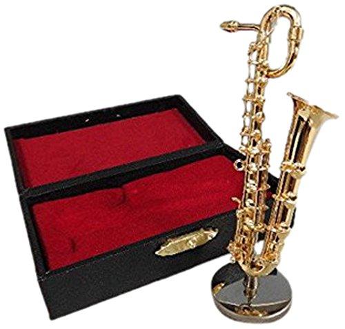 ミニチュア楽器(フィギュア)バリトンサックス カラーゴールド 金属製 1/12(9cm) サンライズサウンドハウス(飾り物で音は出ません)