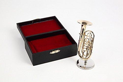 ミニチュア楽器(フィギュア)チューバ カラーゴールド 金属製 1/12(7.5cm) サンライズサウンドハウス(飾り物で音は出ません)