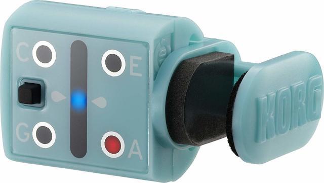 【送料無料メール便】KORG わかりやすく感度が良いウクレレ用クリップチューナー MINIPITCH  オーシャン・ブルー