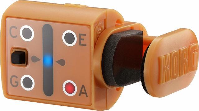 【送料無料メール便】KORG わかりやすく感度が良いウクレレ用クリップチューナー MINIPITCH サンセット・オレンジ
