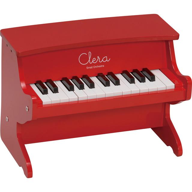 【送料無料】【在庫処分】Clera クレラ ミニピアノ レッド MP1000-25K-RD トイピアノ