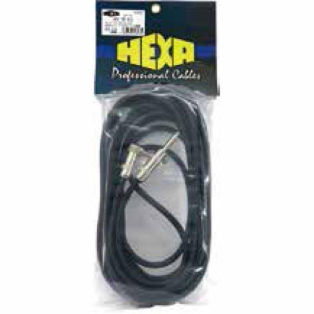 【送料無料メール便】HEXA モガミSCケーブル 先端ストレート+L字 7m 日本製ハイスペックギターケーブル