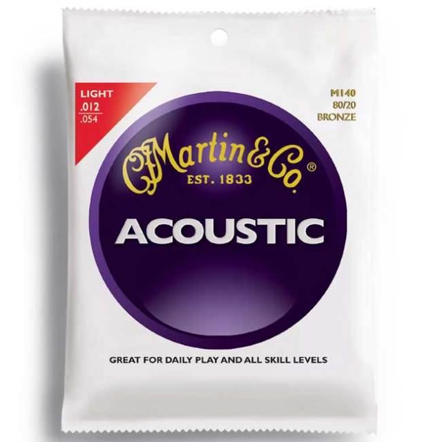 [送料無料]Martin(マーチン)M140 アコースティック弦 アコギ弦 LIGHT