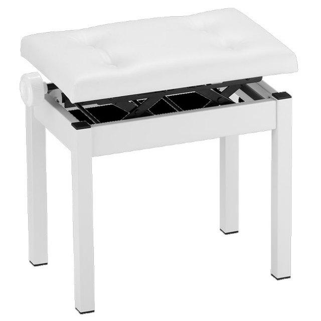 【送料無料】KORG 純正ピアノ椅子 高低自在ピアノ椅子 4つボタンホワイト PC-550-WH