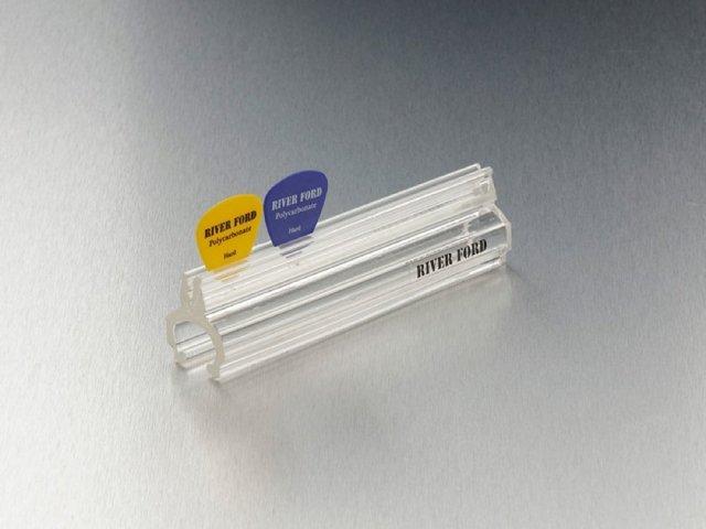 【送料無料メール便】日本製 ピックホルダー 12cm クリスタルカラー(クリア)マイクスタンド取り付け可能