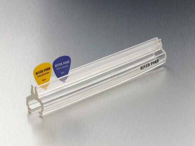 【送料無料メール便】日本製 ピックホルダー 19cm クリスタルカラー(クリア)マイクスタンド取り付け可能