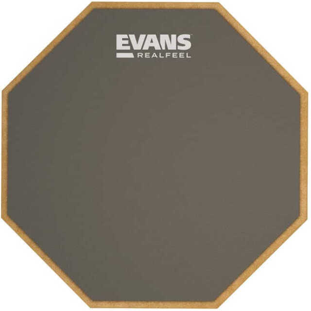 【送料無料】太鼓 スネア 12インチ練習用パッド EVANS ラバーパッド 2-sided Pad RF12D