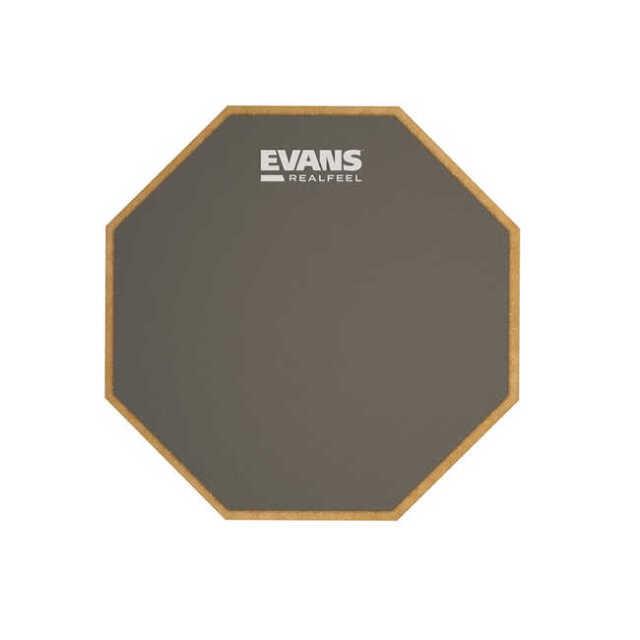 【送料無料メール便】太鼓 スネア 6インチ練習用パッド EVANS ラバーパッド 2-sided Pad RF6D