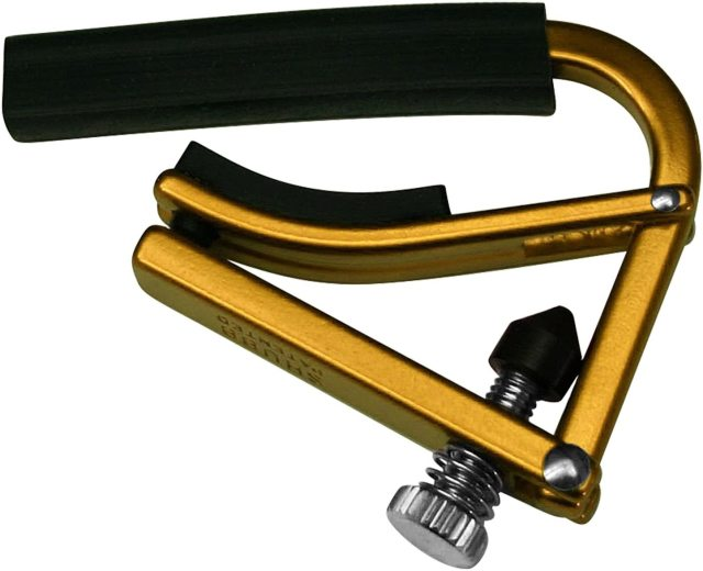 【送料無料メール便】SHUBB シャブ カポ 軽量タイプ L1 フォークギター用 ゴールド