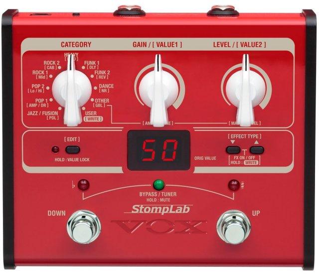 【送料無料】VOX ヴォックス ベース用・コンパクト・マルチエフェクター StompLab SL1B