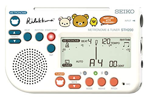 【送料無料メール便】セイコー メトロノームチューナー 限定 リラックマ STH200RKW