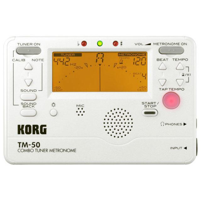 【送料無料・郵便】KORG メトロノームチューナー TM-50PW カラー:パールホワイト