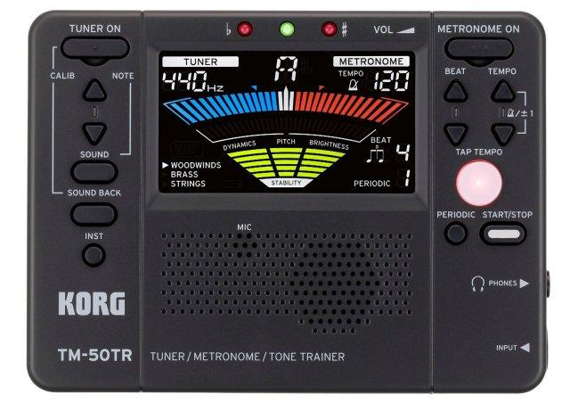 【送料無料メール便】KORG TM-50TR-BK 管楽器 トレーナー ブラック
