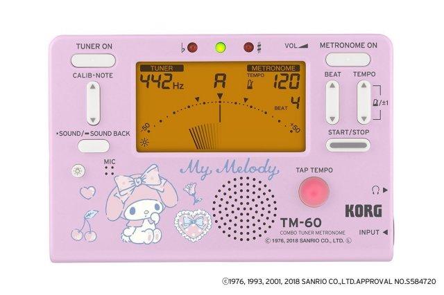 [3月29日入荷分予約]【送料無料メール便】KORG メトロノームチューナー マイメロディ 2018年限定 TM-60-SMM コルグサンリオコラボ