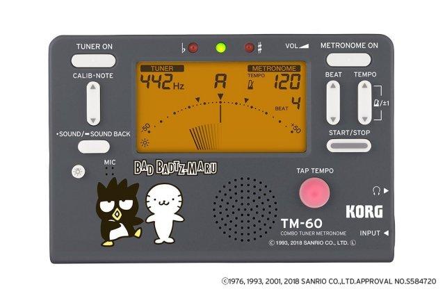【送料無料メール便】KORG メトロノームチューナー バッドばつ丸 2018年限定 TM-60-SXO コルグサンリオコラボ