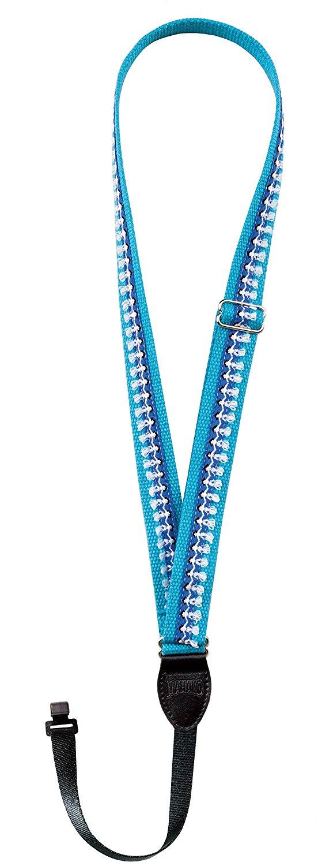 【送料無料メール便】ウクレレストラップ ブルー ハワイアンフラガール柄 キクタニ USP1