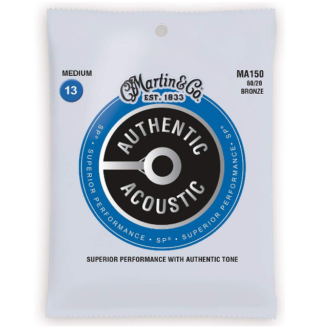 【送料無料メール便】Martin マーチンアコースティックギター弦 アコギ弦セット ギター弦 Medium(013~056)MA150